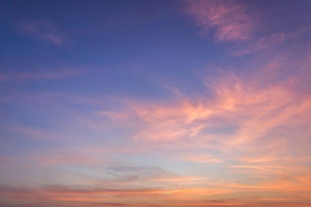 夕方の空 ドラマチックな夕焼け