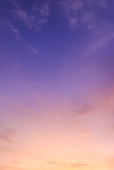 황혼에 화려한 햇빛 구름 수직 저녁 하늘