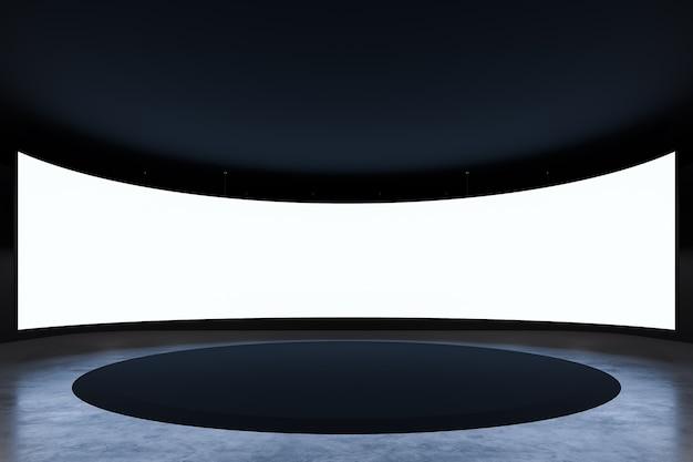 Событие выставочный зал фон с пустым современным пространством и вид спереди 3d-рендеринг