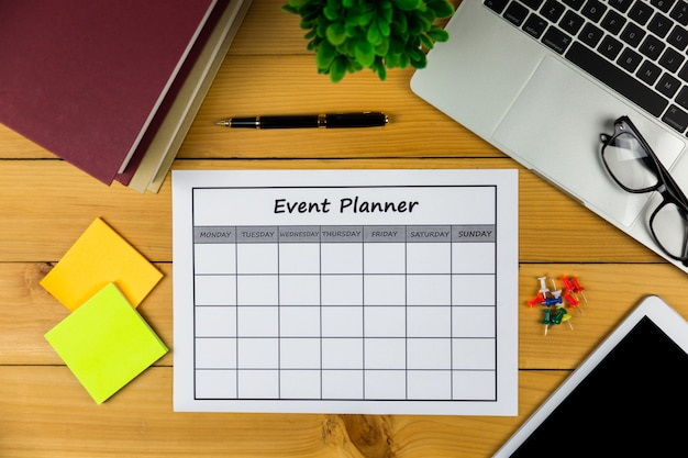 Event plan doing business or activities  monthly.
