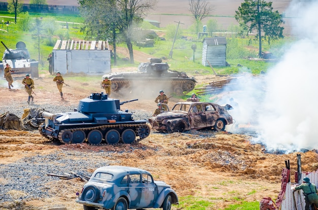 Events dedicated to the victory day in belarus, minsk