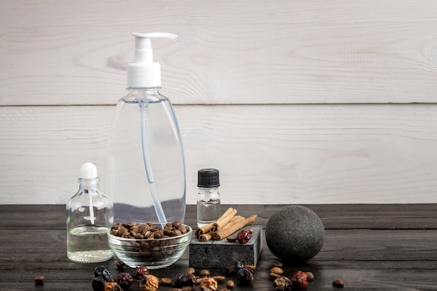 Everything you need to have great coffee bath still life