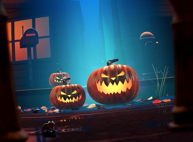 Злой хэллоуин джек о фонарь