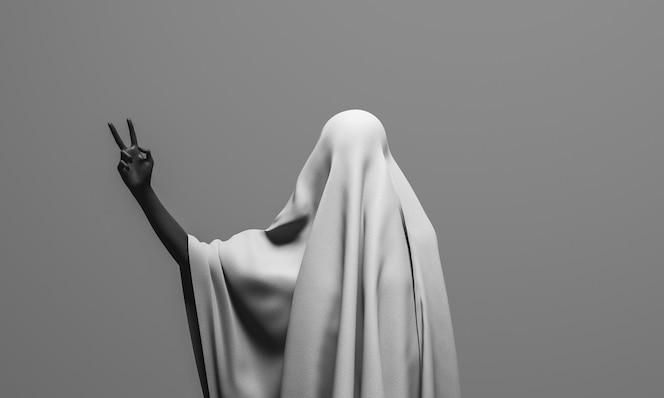 Evil spirit saluting