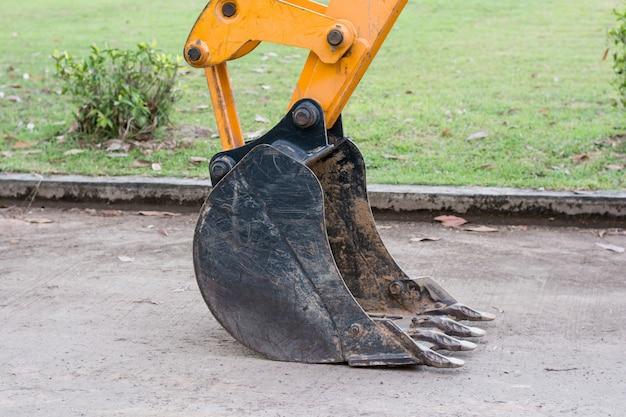 Excavator digging