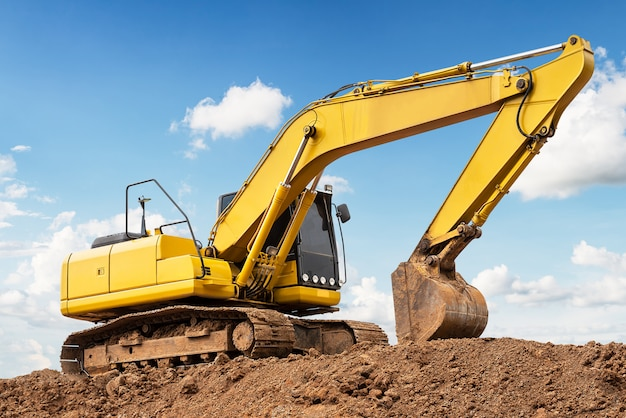 Excavator on ground