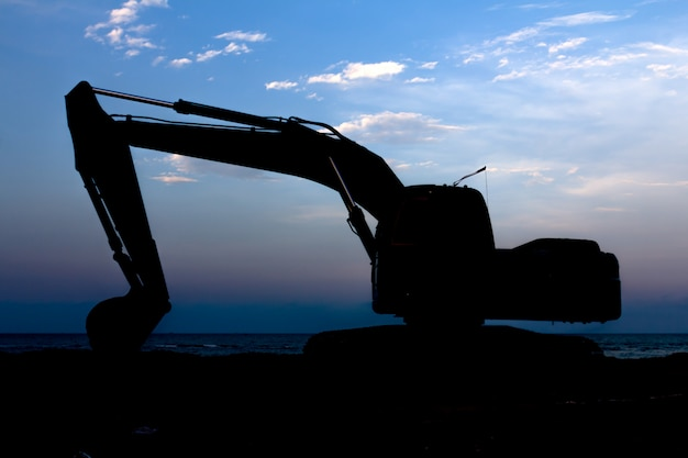Excavator silhouette