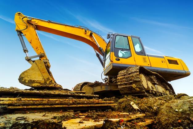 Excavator at work