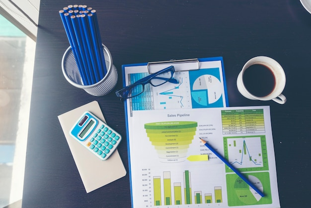 Excel stat spreadsheet business analytics graph statistic with graph and table chart financial data