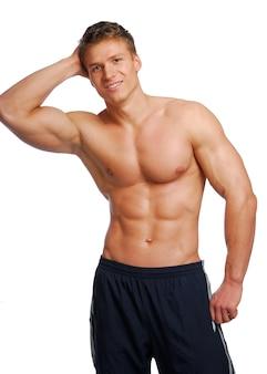 Eccellenza maschile corpo di formazione. isolato su bianco.