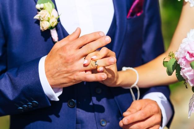 結婚式での結婚指輪の交換