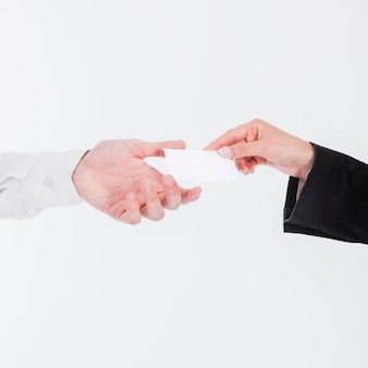 Exchanging business card