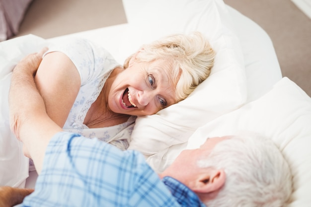 Excited woman enjoying with husband
