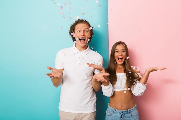 Возбужденная молодая пара
