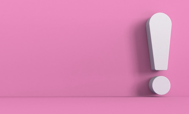 광고 및 디자인 출판물에 대한 느낌표