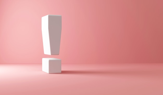 Exclamation mark on pink