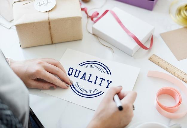 Esclusivo concetto grafico del marchio di qualità premium