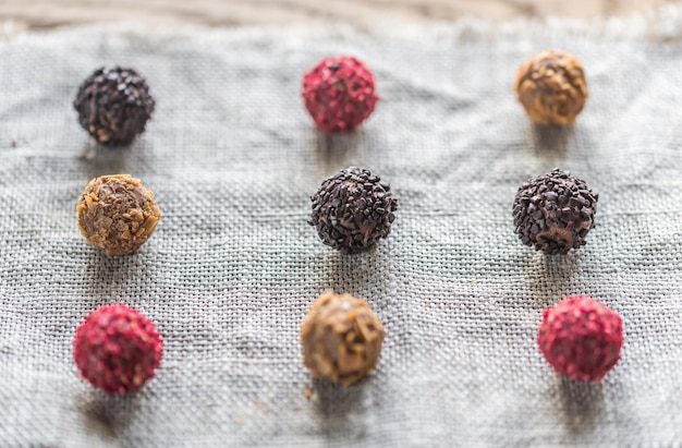 Exclusive truffles: top view