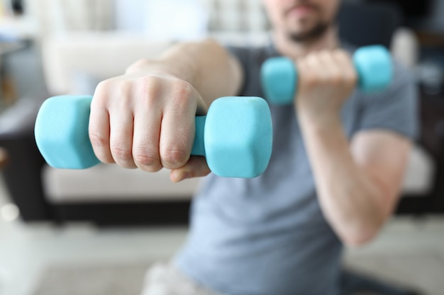 Exercise for muscle arm closeup