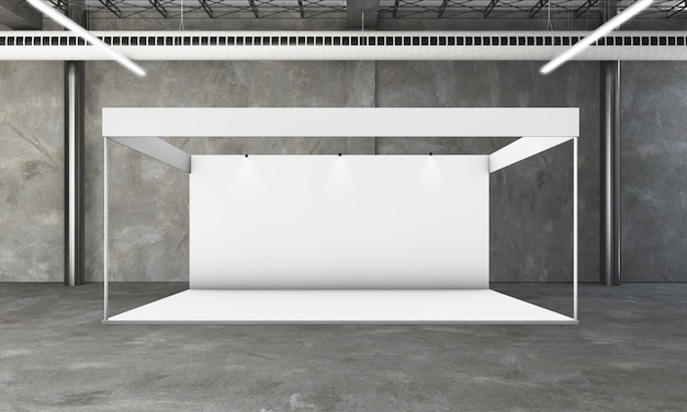 Exhibition booth 3d rendering