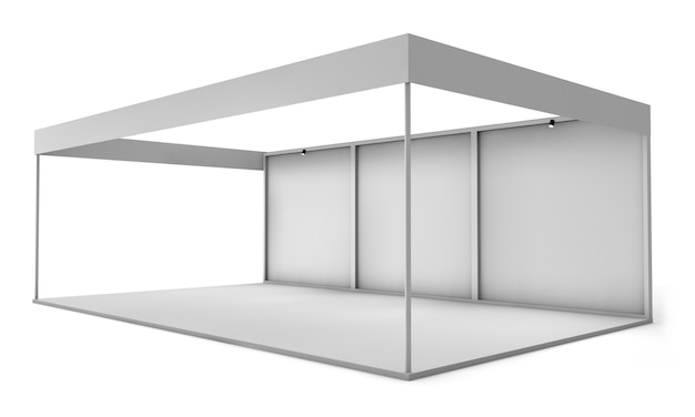 Exhibition stand isolated
