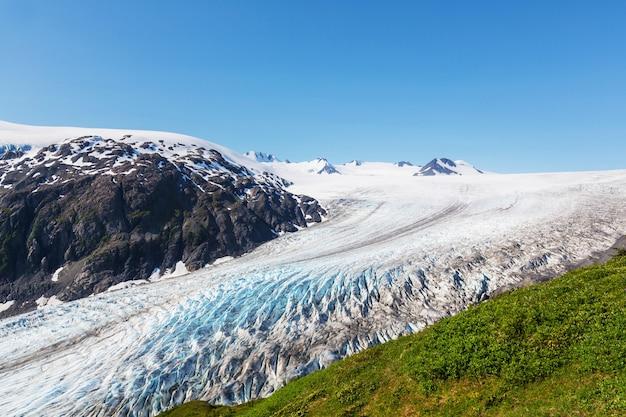 Exit glacier, национальный парк кенай-фьордс, сьюард, аляска