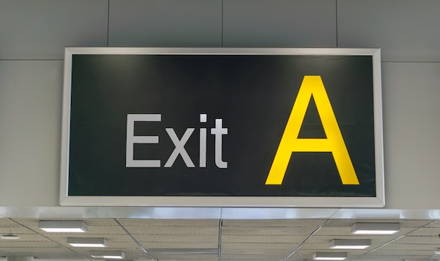 Exit a sign in the airport