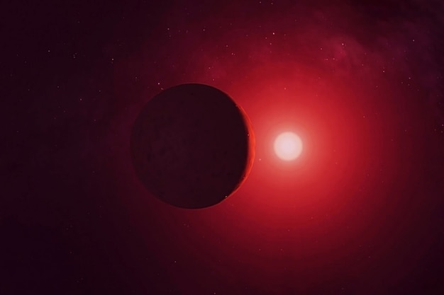Exoplanet on the dark side of the star elements of this image were furnished by nasa