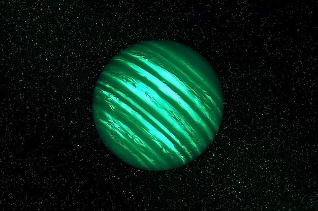 Exoplanet in deep space. elements of this image were furnished by nasa. high quality photo