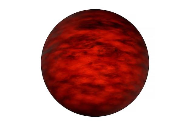 Экзопланета, изолированные на белом фоне. элементы этого изображения были предоставлены наса. фото высокого качества