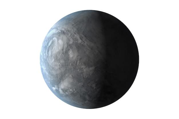 흰색 배경에 격리된 외계 행성 이 이미지의 요소는 nasa에서 제공했습니다.