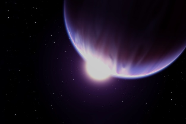 星の暗い側にある太陽系外惑星。この画像の要素はnasaによって提供されました。あらゆる目的のために。