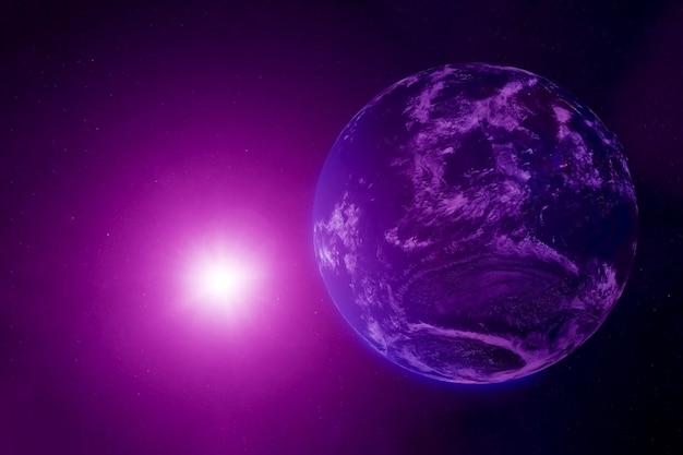 대기권이 있는 외계행성. 이 이미지의 요소는 nasa에서 제공했습니다. 어떤 목적을 위해.