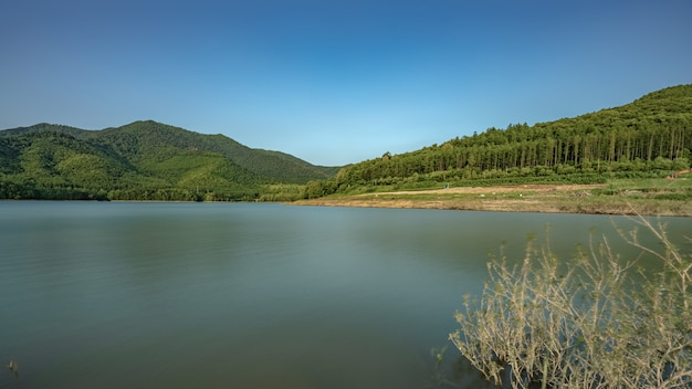 Exotic lake mountain scenery