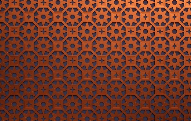 Exotic metal. ornamental metal latticework.
