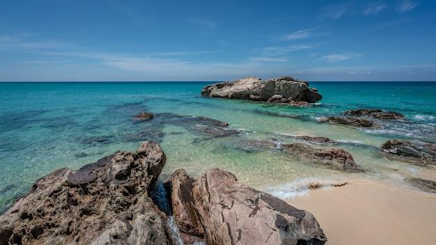 Exotic sea stone scenery