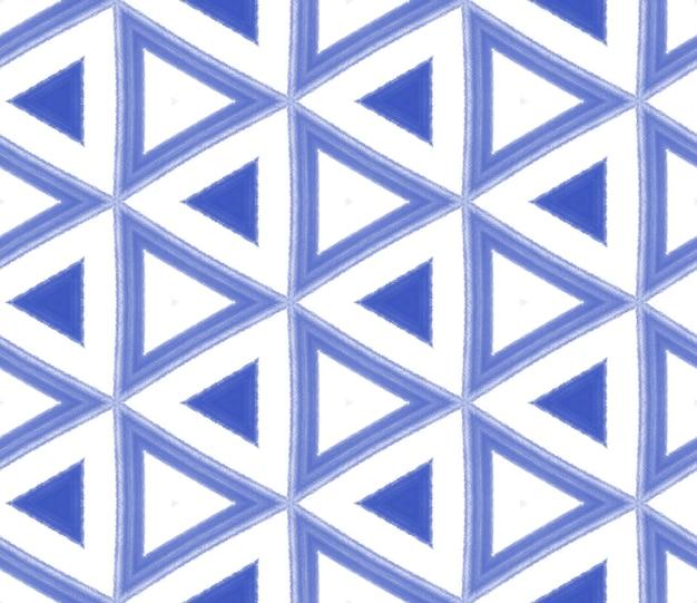 Экзотический бесшовный образец. индиго симметричный калейдоскоп фон. текстиль готов, идеальный принт, ткань для купальников, обои, упаковка. летние купальники экзотического бесшовного дизайна.