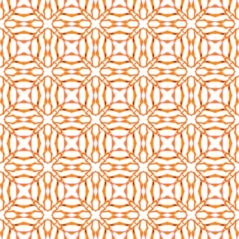 Exotic seamless pattern. orange captivating boho chic summer design. textile ready splendid print, swimwear fabric, wallpaper, wrapping. summer exotic seamless border.