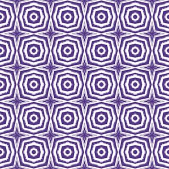 Экзотический бесшовный образец. фиолетовый симметричный фон калейдоскопа. летние купальники экзотического бесшовного дизайна. текстиль готовый мелкий принт, ткань купальников, обои, упаковка.