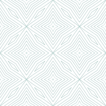 エキゾチックなシームレスパターン。ターコイズ対称の万華鏡の背景。テキスタイル対応の磁気プリント、水着生地、壁紙、ラッピング。夏の水着エキゾチックなシームレスデザイン。