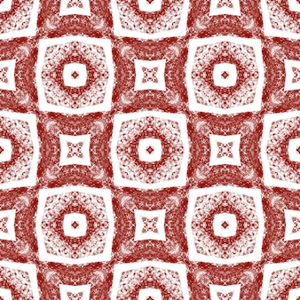 Exotic seamless pattern. wine red symmetrical kaleidoscope background. summer swimwear exotic seamless design. textile ready delightful print, swimwear fabric, wallpaper, wrapping.