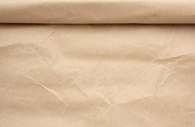 확장 된 갈색 종이 롤, 풀 프레임