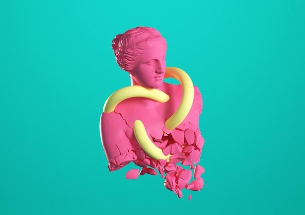 Experimental statue Premium Photo