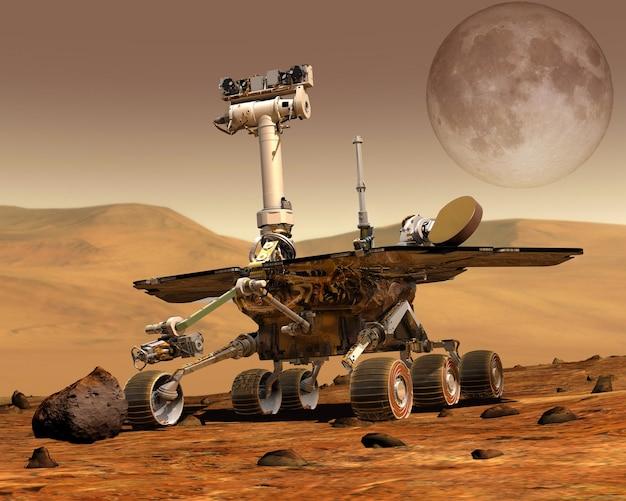 Исследовательский марсоход на марсе