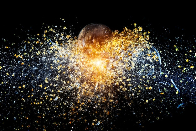 Explosion of ball