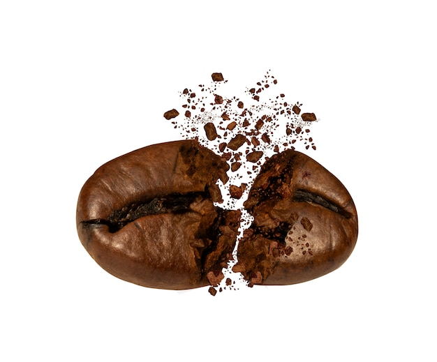 Explosion of coffee bean roast