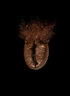 Explosion of coffee bean