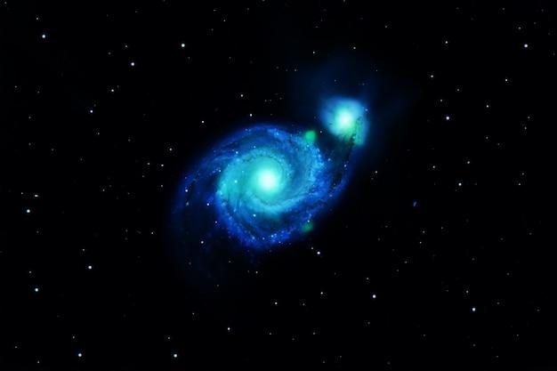 열린 공간에서 별의 폭발. 이 이미지의 요소는 nasa에서 제공했습니다. 고품질 사진