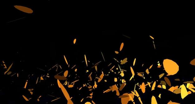 Эффект взрыва частицы 2d изображение наложения изображения