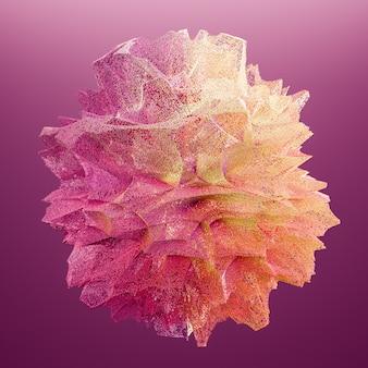 Взрыв фиолетовой пыли. заморозьте движение взрыва цветного порошка. иллюстрация